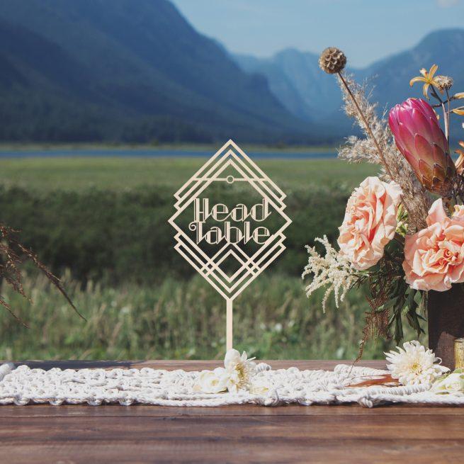 Head Table Art Deco Wedding Sign