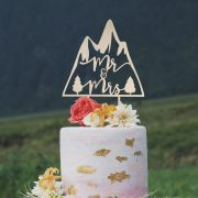 Mr and Mrs Mountain Cake Topper