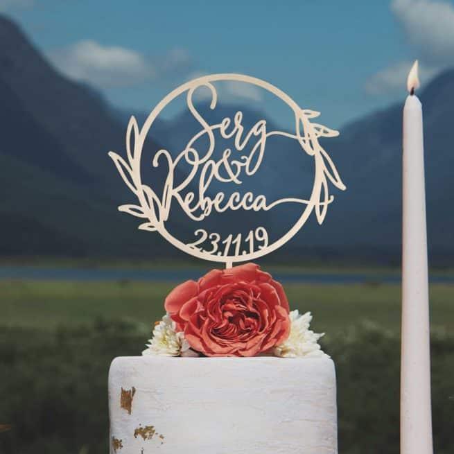 Custom Wreath Cake Topper