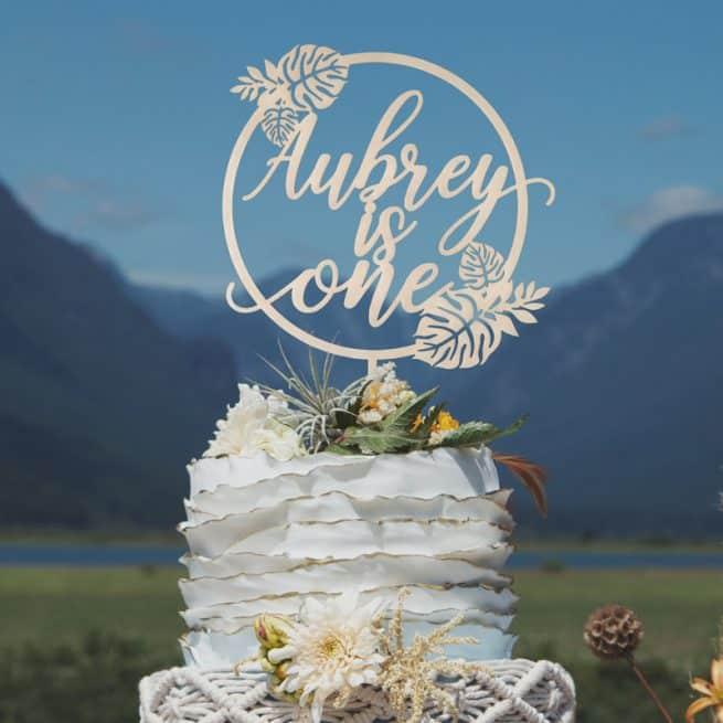 Custom Tropical Birthday Cake Topper