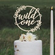 Wild one first birthday cake topper by Thistle and Lace Designs Inc.
