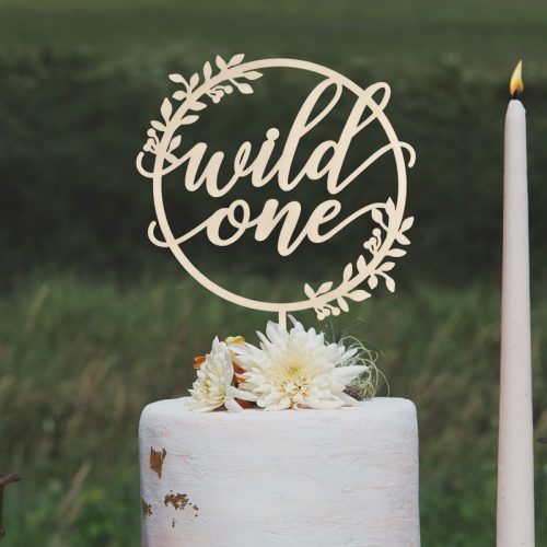 Wild One Rustic Cake Topper