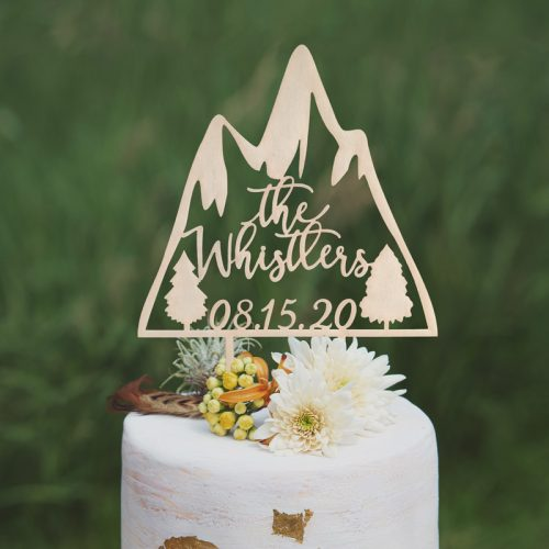 Custom Wedding Mountain Cake Topper
