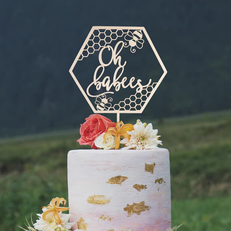 Oh Babees Twin Cake Topper