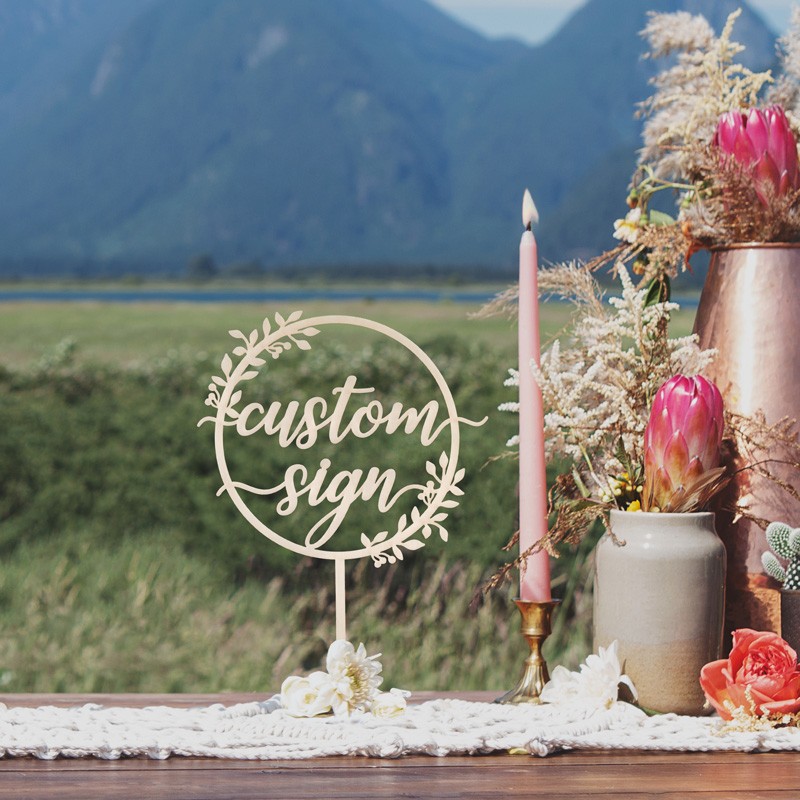 Rustic Custom Table Wedding Sign by Thistle and Lace