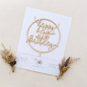 Swell Happy 90Th Birthday Cake Topper Thistle And Lace Designs Inc Personalised Birthday Cards Veneteletsinfo