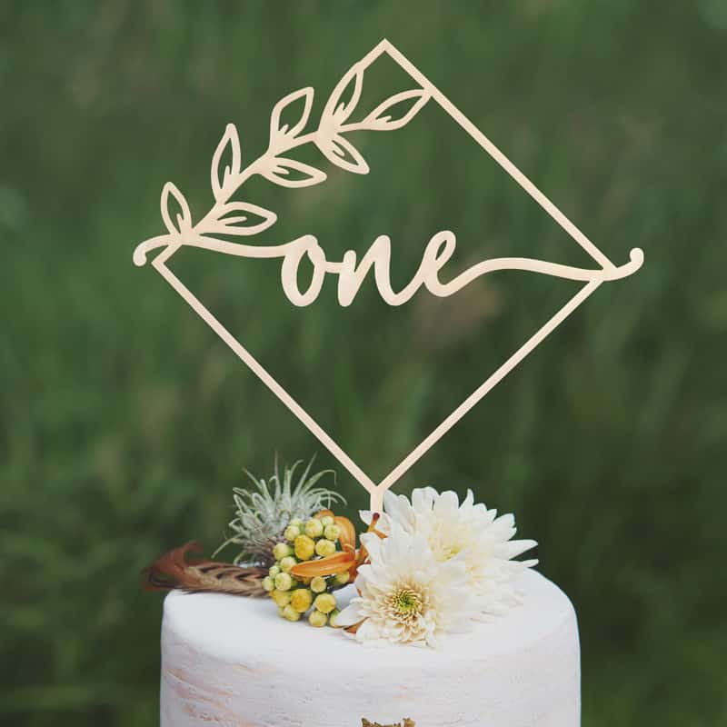 Modern First Birthday Cake Topper by Thistle and Lace