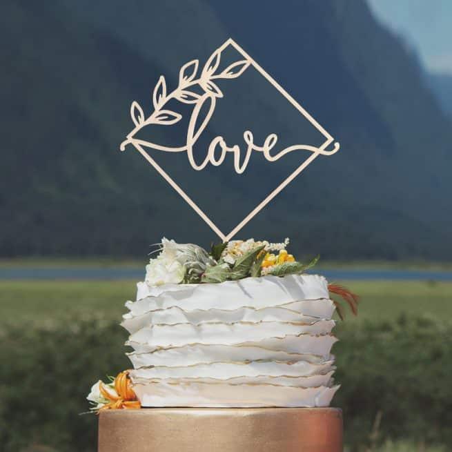 Modern Love Cake Topper