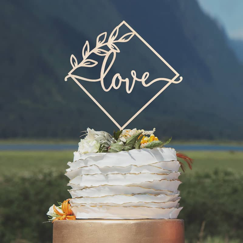 Modern Love Cake Topper by Thistle and Lace