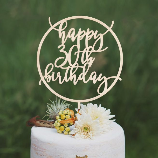 Happy 30th Birthday Cake Topper