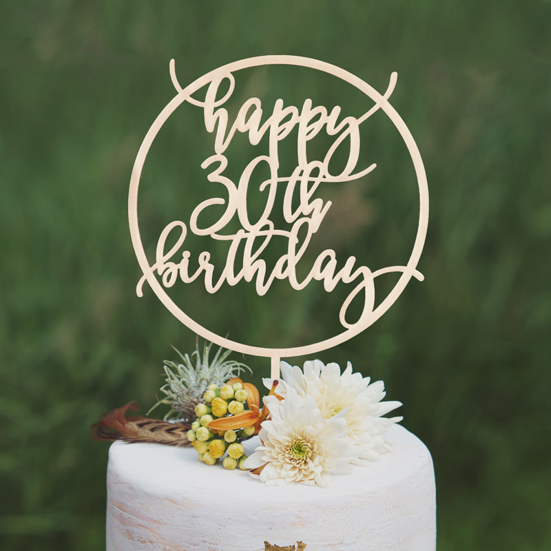 Marvelous Happy 30Th Birthday Cake Topper Thistle And Lace Designs Inc Funny Birthday Cards Online Alyptdamsfinfo