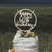 happy 60th birthday cake topper