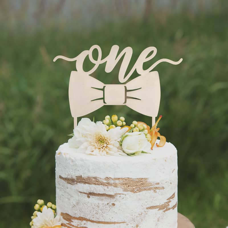 One Cake topper by Thistle and Lace
