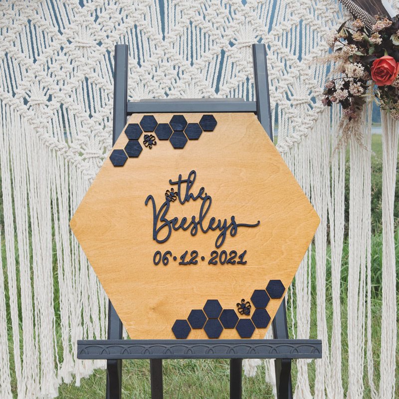 Bee Wedding Sign by Thistle and Lace Designs Inc.