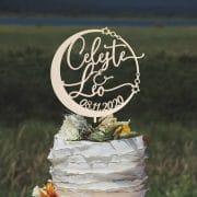 Custom Celestial Wedding Cake Topper