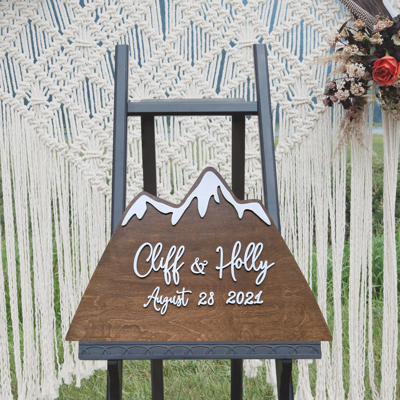 Mountain Wedding Sign by Thistle and Lace Designs Inc.