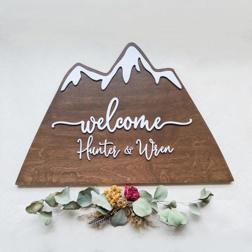 Mountain Wedding Welcome Sign