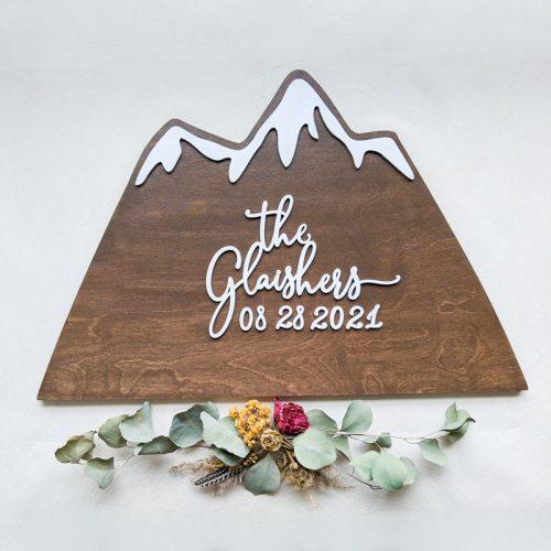 Mountain Wedding Sign