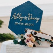 Modern Wedding Sign by Thistle and Lace Designs Inc.