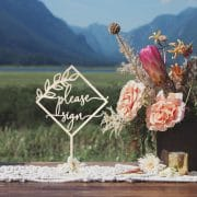 Please Sign Rustic Wedding Sign