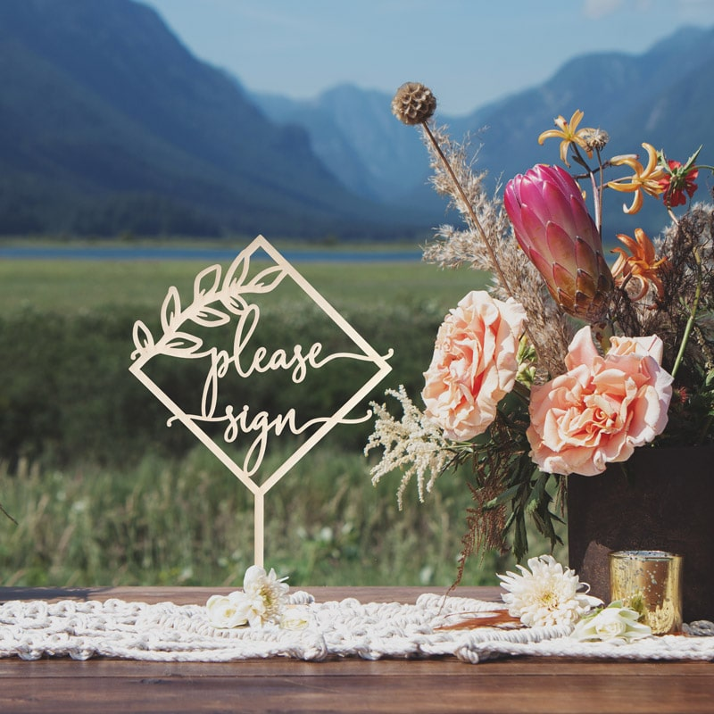 Please Sign Rustic Wedding Sign by Thistle and Lace