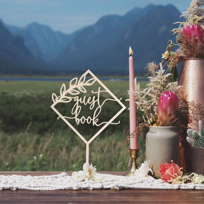Rustic Guest Book Table Sign by Thistle and Lace