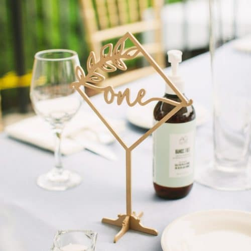 Rustic Diamond Table Numbers