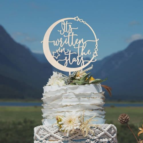 It's Written in the Stars Celestial Cake Topper