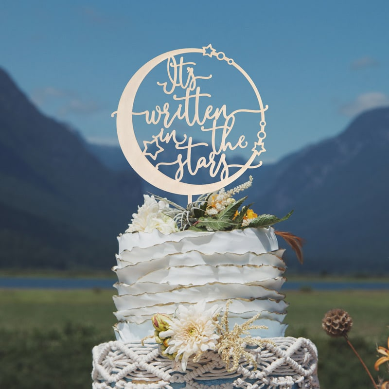 It's Written in the Stars Celestial Cake Topper by Thistle and Lace Designs Inc.