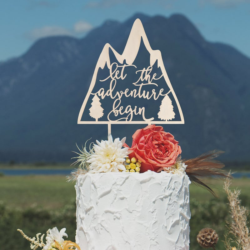 Let the Adventure Begin Cake Topper by Thistle and Lace Designs Inc
