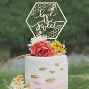 Love is Sweet Wedding Cake Topper