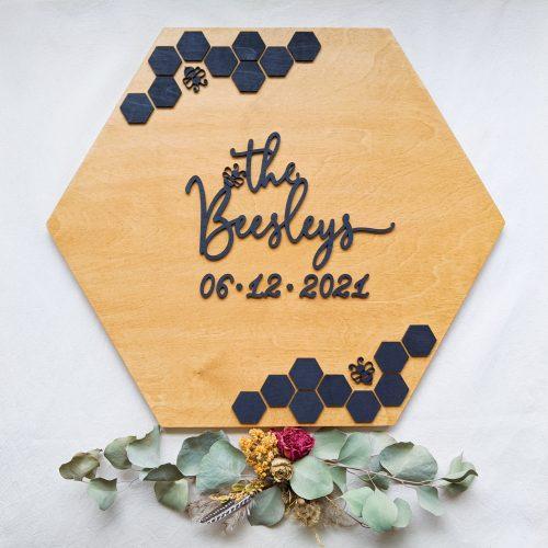 Bee Wedding Sign