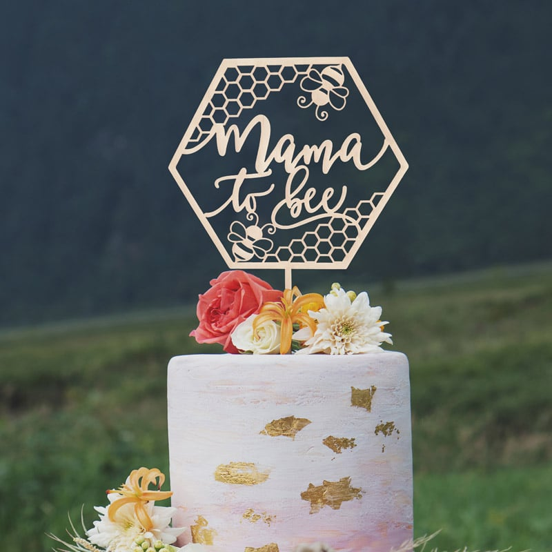 Mama to Bee Cake Topper