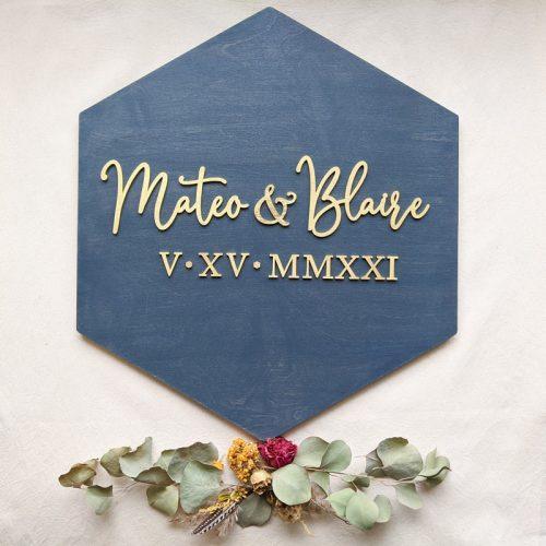 Modern Wedding Sign
