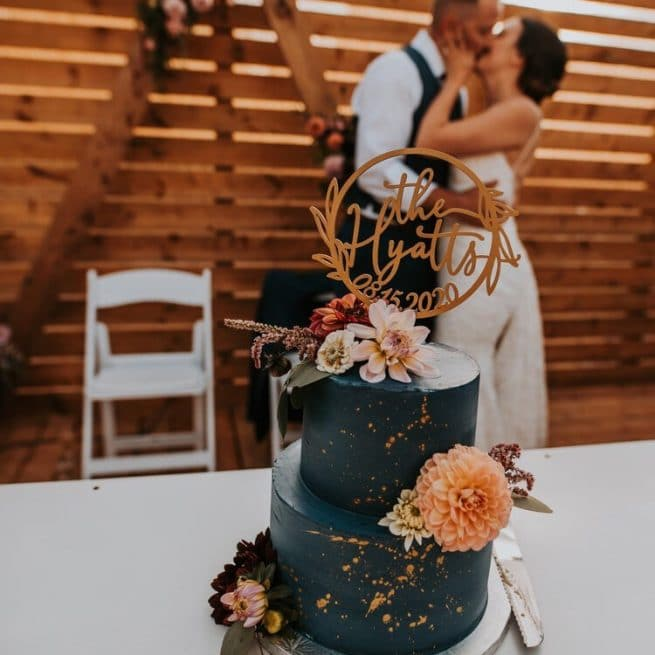 Custom Mr and Mrs Rustic Wedding Cake Topper by Thistle and Lace Designs Inc.