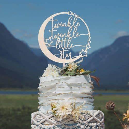 Twinkle Twinkle Little Star Celestial Cake Topper