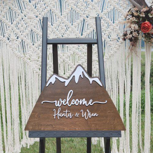Mountain Wedding Welcome Sign