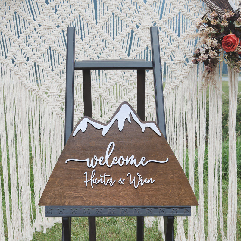 Mountain Wedding Welcome Sign by Thistle and Lace Designs Inc.