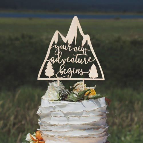 Your New Adventure Begins Cake Topper