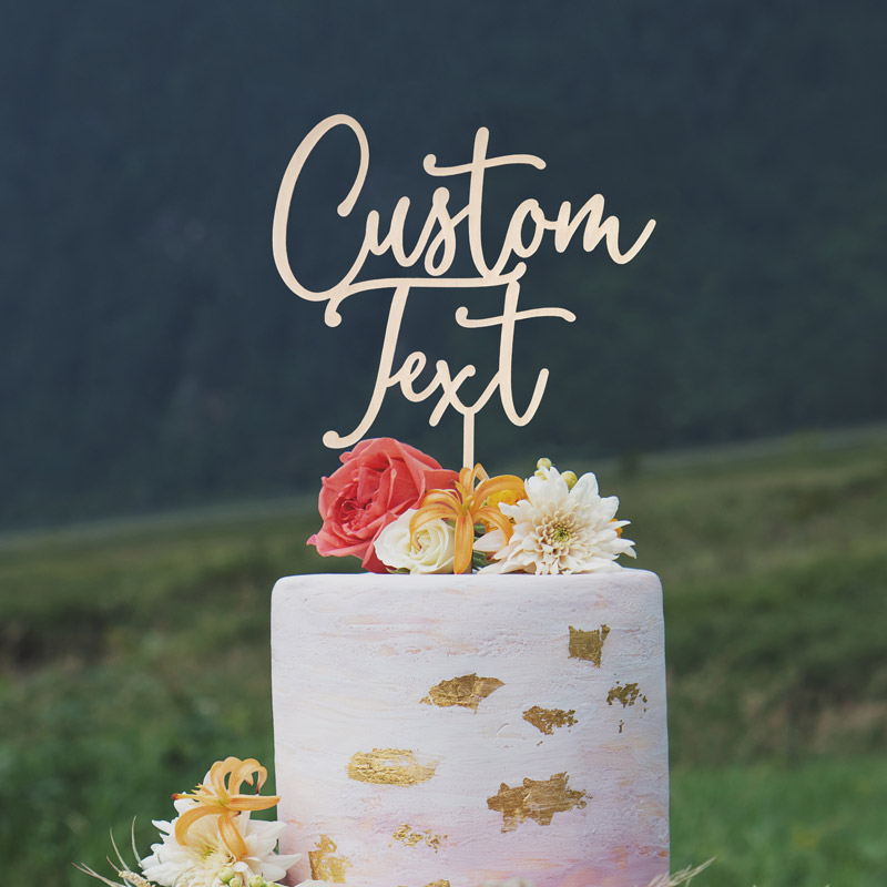 Custom Cake Toppers by Thistle and Lace