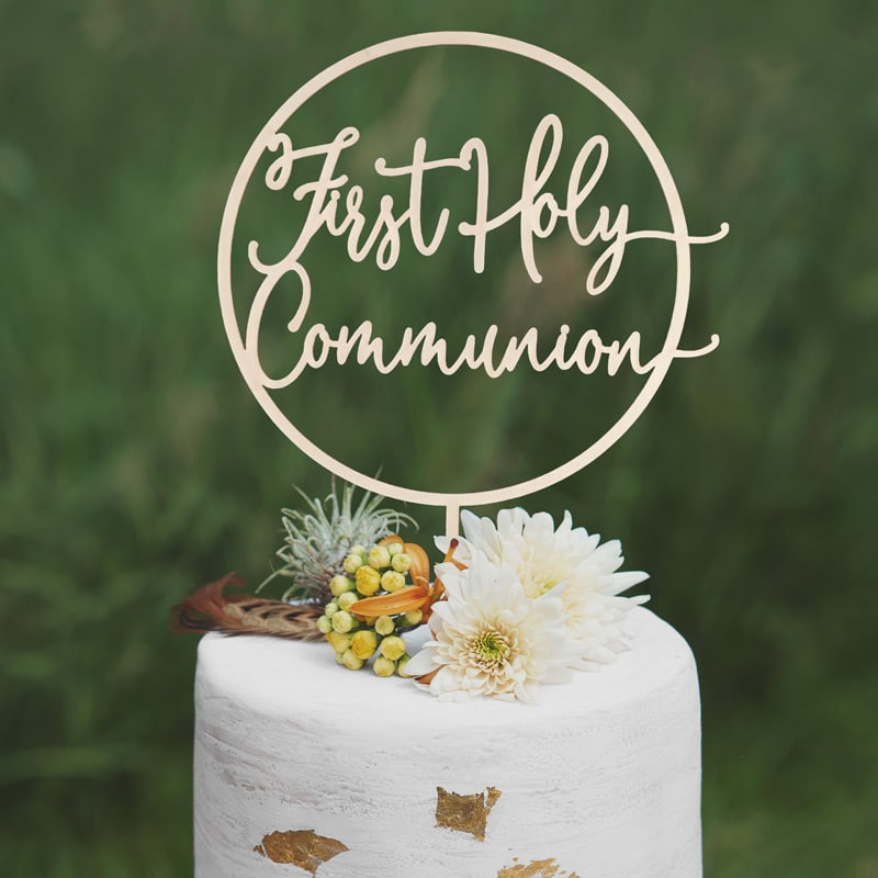 First Holy Communion Cake Topper by Thistle and Lace Design Inc
