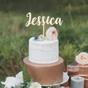 Custom Birthday Cake Topper by Thistle and Lace