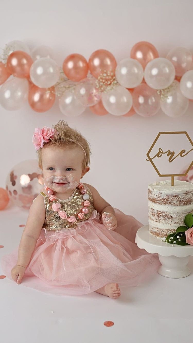 Geometric First Birthday Cake Topper by Thistle and Lace Designs Inc