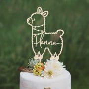 Llama Custom birthday cake topper
