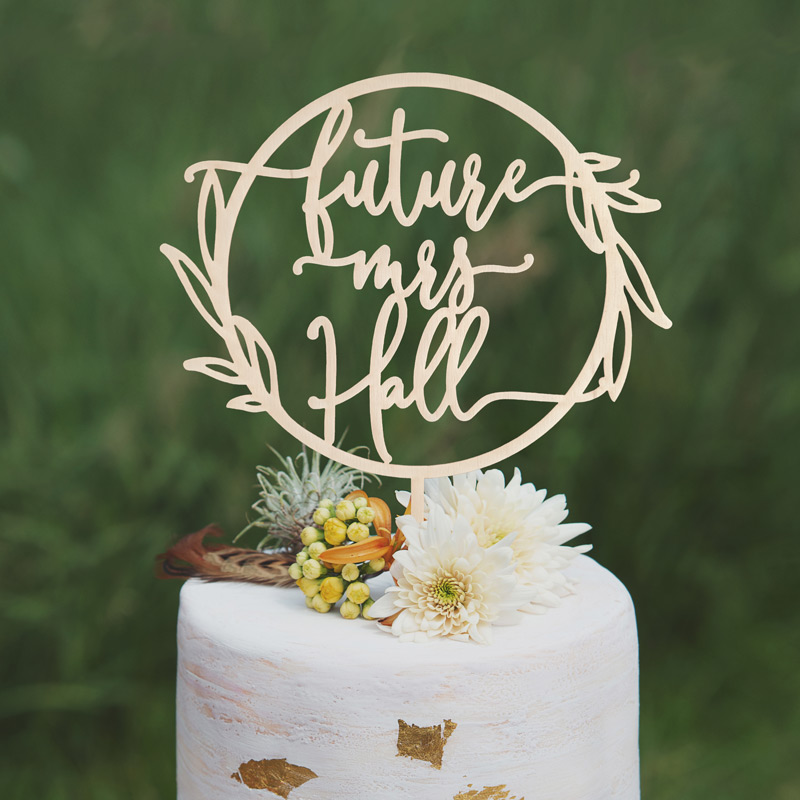 Future Mrs Rustic Cake Topper by Thistle and Lace