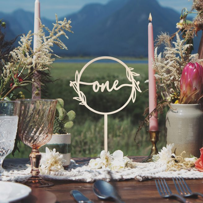Rustic Wedding Table Numbers by Thistle and Lace