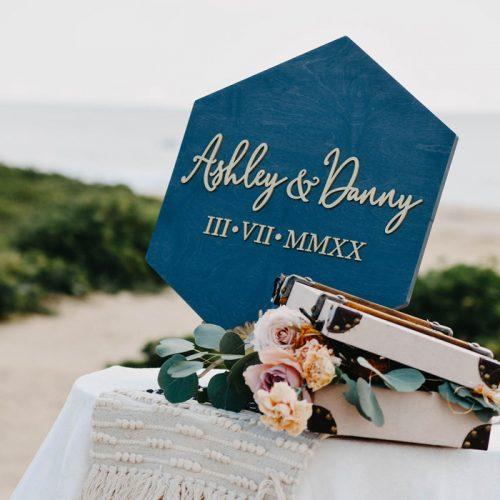 Modern boho beach wedding