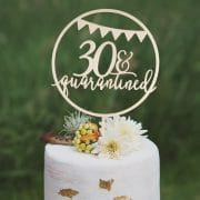 30 and Quarantined Birthday Cake Topper by Thistle and Lace Designs Inc