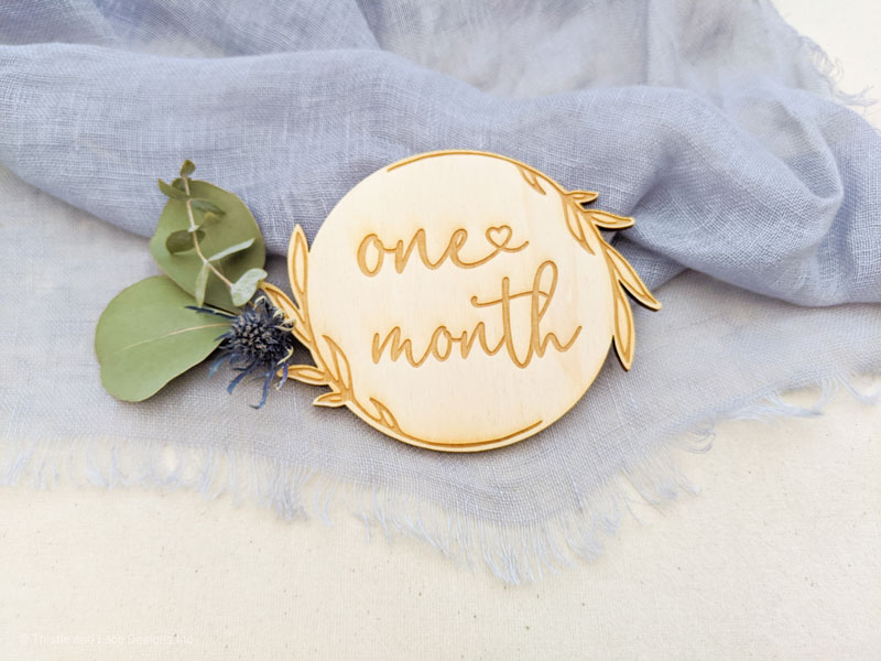 Rustic Baby Milestone Cards Thistle and Lace Designs Inc