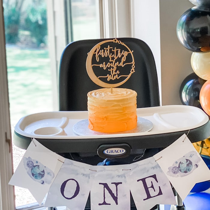 First Trip Around The Sun birthday Cake Topper by Thistle and Lace Designs Inc